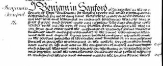 Will of Benjamin Sanford 1752-1840
