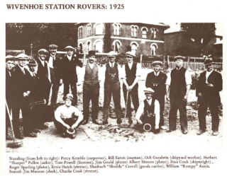 The star quoits team at The Station Hotel in 1925 | From Dick Barton's book