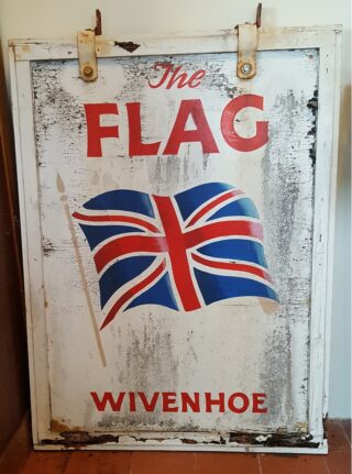 The sign from The Flag which was there in 2006 | Picture by John Foster, courtesy of Wivenhoe Chapel Museum.