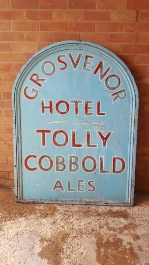 This Grosvenor sign is the last of its signs, in use until the pub closed | Picture by John Foster