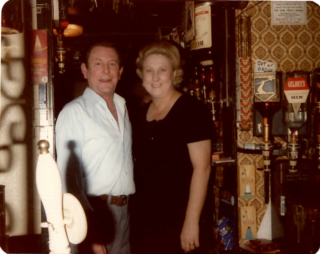 Tom & Pat Smith, landlord & landlady of The Greyhound 1979-87 | Picture owned by Mrs Pat Smith