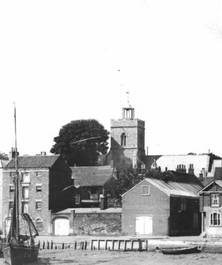 Early picture of The Quay showing The Sailors Return on the right of the picture | Photo: Wivenhoe Memories Collection