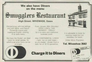 Advertisement for the Smugglers Restaurant c. 1980s. By then No 49 had become part of the property.