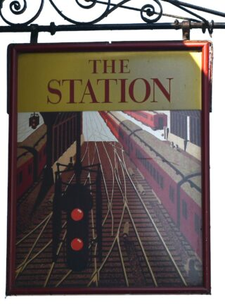 The Station's pub sign - September 2020 | Photo: Terry Garland