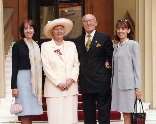 Jan Richardson in 1999 after the Investiture where she received the OBE. | Photo owned by Sarah Brooks Richardson