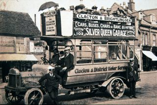 A typical Silver Queen bus from about 1920