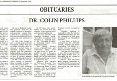 About Dr Colin Phillips who died in 2018