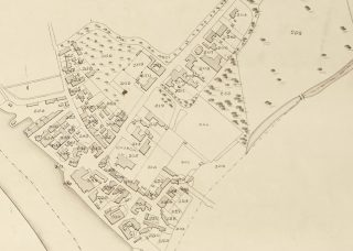 Extract from 1838 Tithe Award Map showing parcels 313, 324, and 327 owned or occupied by Benjamin Smith | Essex Record Office D/CT 406B