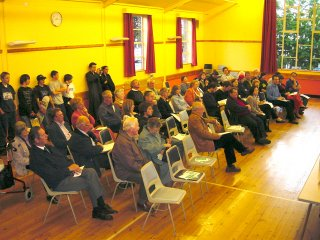 Wivenhoe residents assembled in the Wm Loveless Hall for the 2004 Annual Town Meeting | Peter Hill