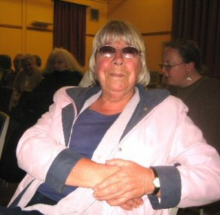 Brenda Corti who has done much of the administrative work in the project at the March event | Peter Hill