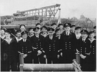 The Crew of the Minesweeper Beveland in 1943