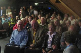 The crowd upstairs in the Sailing Club in October 2006 waiting to see the DVD | Peter Hill