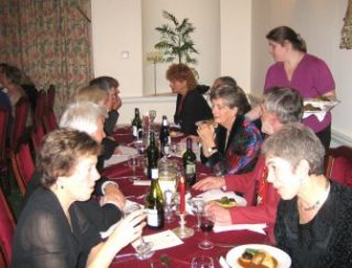 Guests at the top table