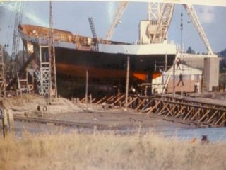 The STS Lord Nelson under construction