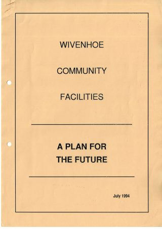 Report Cover - A Plan for the Future 1994