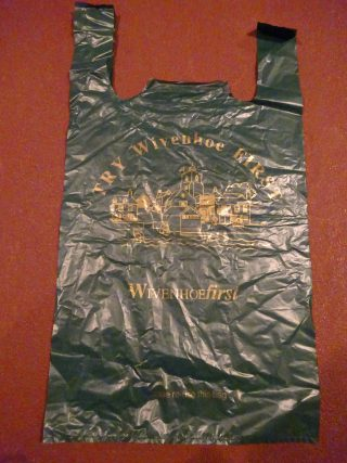 50,000 WivenhoeFirst carrier bags were ordered as part of the Campaign to promote Wivenhoe