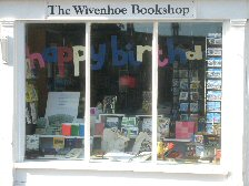 The front window of the Wivenhoe Bookshop