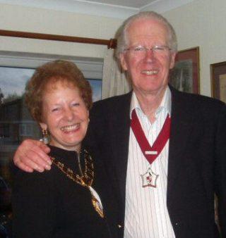 Cllr Penny Kraft, Town Mayor 2006 - 2007 with husband, Eugene Kraft, Mayor's Escort
