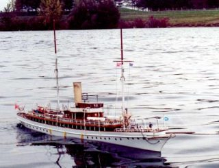 Model of the SY Venetia made by Marcel Lanneval of Canada who lives in Canada who served on Venetia as a sea cadet in Canada as a 16 year old.