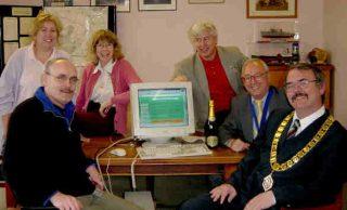 Back: Toni Stinson; Susannah Bradley; Cllr Peter Hill Front: Paul Alden; Cllr David Craze; Town Mayor Cllr Steve Ford