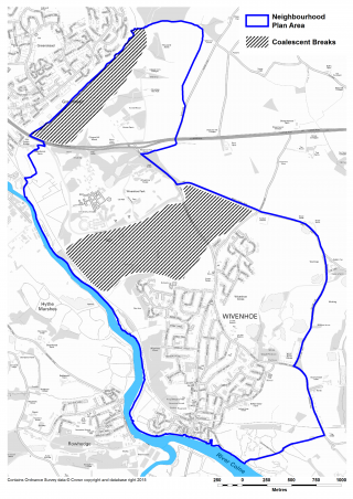 Coalescent breaks between Wivenhoe and the University, and Greenstead and the proposed garden community