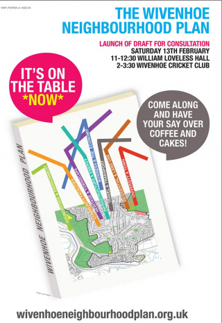 The poster for the two consultation events in 2016