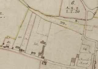 Undersett to the Cross Keys Tavern (to the south of Parcel 23) on the 1799 Survey Map of Wivenhoe | Essex Record Office A13644, Box1