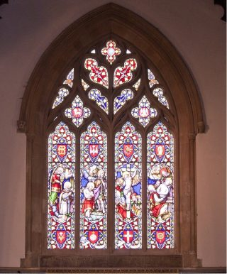 The East Window, above the Altar, the gift of the Corsellis family | Photo: Frances Belsham