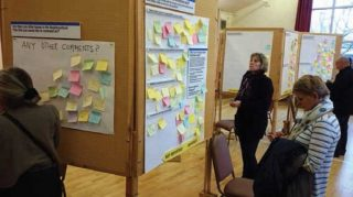 The first public consultation event held in the Wm Loveless Hall in 2013