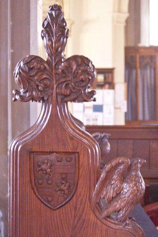 Carved pew end in the Chancel | Photo: Frances Belsham