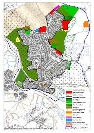 The Wivenhoe Neighbourhood Plan map showing every area with its proposed designation