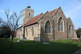 The east side of St Mary's Church