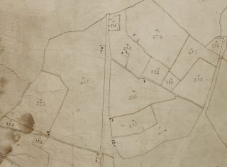 Extract from the 1799 Survey Map of Wivenhoe showing Parcels 44, 45 and 46 | Essex Record Office A13644 Box1
