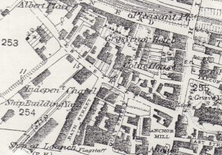Extract from the 1876 OS map (first edition) showing West Street as it was at that time.  | 1876 Ordnance Survey 'First Edition': Wivenhoe, Elmstead & Ardleigh Parishes (1:2500) 25 inches to the mile)