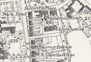 Extract of 1876 Ordnance Survey Map 'First Edition': Wivenhoe, Elmstead .& Ardleigh Parishes (1:2500, 25 ins to the mile) showing the squarish plot (with marked off sections) to the South of Rebow Road on which 47 Park Road would be later built
