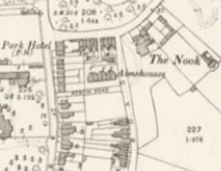 Extract from the 1897 Ordnance Survey Map showing the squarish plot (without any marked off sections) on which 47 Park Road would later be built